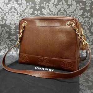 Chanel Dark Brown Leather Bag